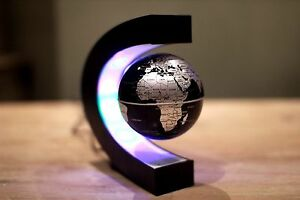 Floating Globe LED World Map  Magnetic Levitation Light Antigravity Magic Novel