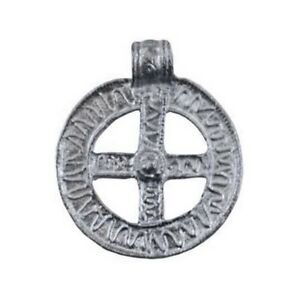 Small sun cross norse viking artisan silver tone pewter amulet image is loading small sun cross norse viking artisan silver tone aloadofball Image collections