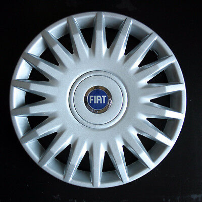 Copricerchi Coppe Ruota FIAT STILO 15 pollici set 4 coppe con logo FIAT blu