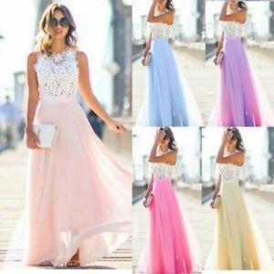 Sexy-Lace-Chiffon-Dress-Wedding-Bridesmaid-Prom-Dress-Sleeveless-Long-Maxi-Dress