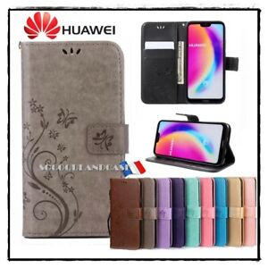 Etui-Coque-housse-Papillons-Cuir-PU-Leather-Case-Cover-Huawei-All-models