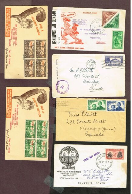 NEW ZEALAND FDC REGISTERED  TO CANADA CENSORED (ENUJ28,4
