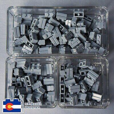 LEGO City Town Castle lot of 25 Light Bluish Gray Bricks Masonry Profile