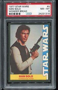 1977 Topps Star Wars Wonder Bread Trading Card #4 HAN SOLO PSA 8 NM-MT