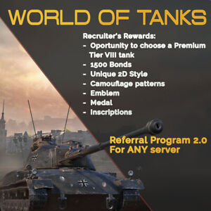 World of Tanks Referral Program 2 0 ⭐ Recruit WOT NA EU SEA
