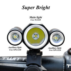 CREE-XML-T6-LED-Bicycle-Bike-With-Front-Light-Headlamp-Set-Cycling-Lamp-Kit-Gift