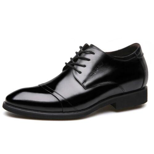 Hommes Formelles Chaussures Business Derbies mâle Robe Chaussures en cuir synthétique Ascenseur chaussures