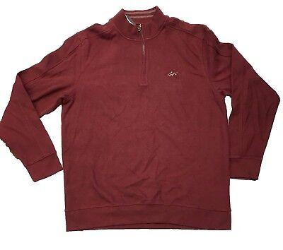 Wine Greg Norman Men/'s 1//4 Zip Pullover Natural Performance Sweater HWK