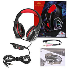 Professional Noise Cancelling Adjustable Over Ear Stereo Gaming Headset with Mic