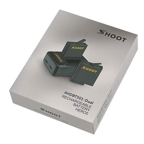 USB Cargador Doble Para GoPro 7 Negro HERO 6 5 Accesorios 2-Pack de reemplazo de la Batería