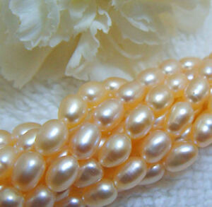PEACH-Freshwater-Pearls-Cultured-3-4mm-16-034-strand-Beautiful