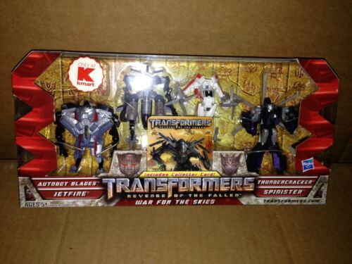 Transformers ROTF LEGENDS WAR FOR THE SKIES 4 Pack New 2009 KMART Exclusive Rare