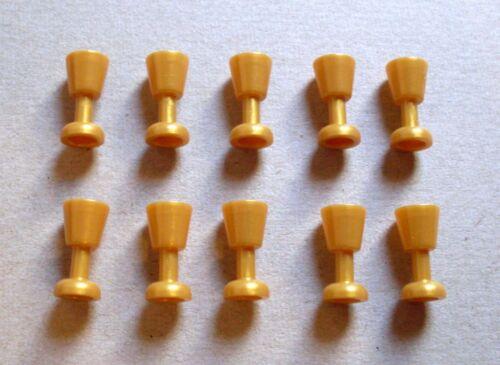 Lego 10 Becher gold gelb Glas Kelch Goblet Zubehör Teile für Figuren Neu
