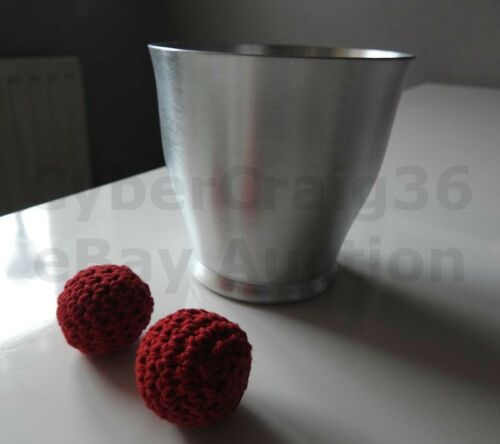 CHOP CUP METAL ALUMINIUM CLOSE UP /& STAGE CLASSIC MAGIC TRICK AND RED BALL PROP