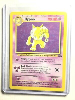 Pokemon Card NM Rare HYPNO Fossil 23//62