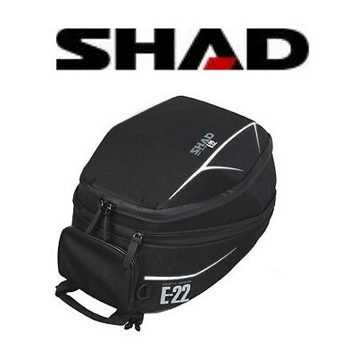 Sacoche de réservoir E-22 SHAD semi-rigide imper moto extensible casque tank bag