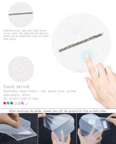 3D LED Uzumaki Naruto Tischlampe Leselampe Nachtlicht Nachttischlampe 7 Farbe