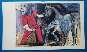PABLO-PICASSO-CIRCUS-HORSE-ORIGINAL-VINTAGE-SIGNED-LITHOGRAPH-SPADEM-1959-COA
