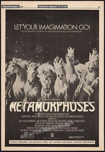 METAMORPHOSES__Original 1978 Trade AD/ poster__Takashi__Rolling Stones_Joan Baez