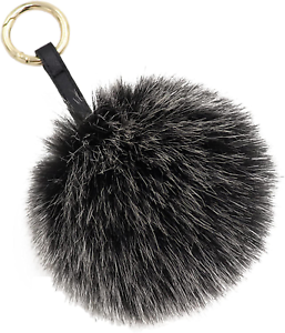 "Aiphamy 4.7/"" Faux Fur Pom Pom Keychain Purse Bag Charm Fluffy Ball Key Chain for"