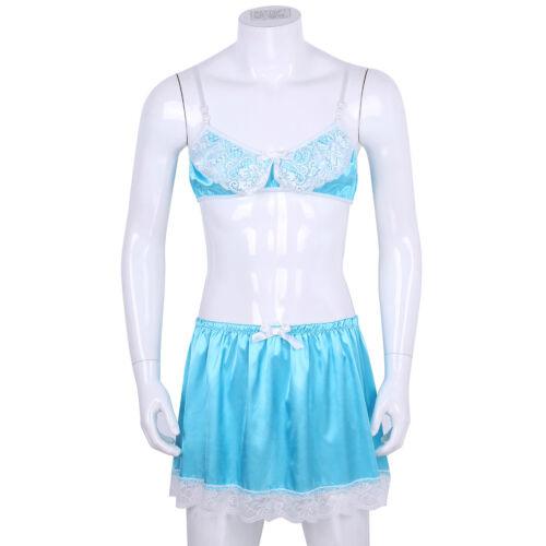 Men/'s Lace Briefs Underwear Crossdress Lingerie Set Sissy Pouch Panties Knickers
