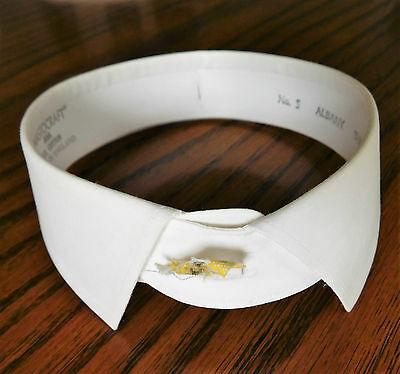 Stiff starched collar size 15.5 Mastocraft Albany vintage 1970s 1980s detachable