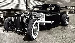 Hot Rod Custom Roadsters Classic Muscle Cars Silk Poster 24x36 inches 004