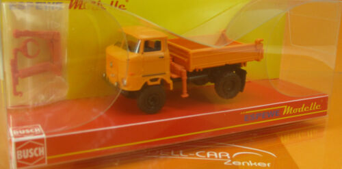 Busch espewe 95254 IFA w50 3sk con grúa naranja 1:87