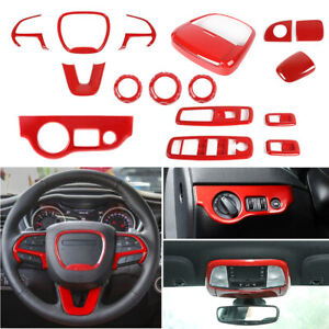 Full Kit Interior Accessories for Dodge Charger 15+ Dashboard Trim Gear Shift