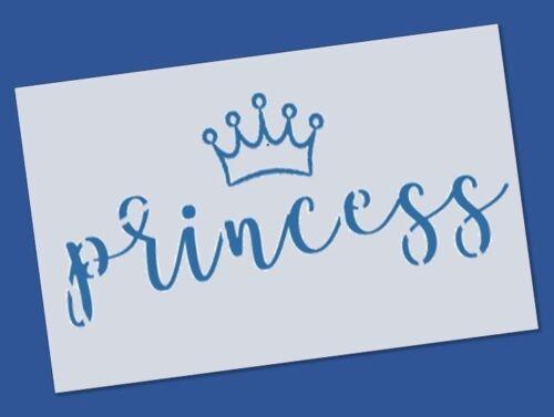 A4 Princess Stencil Reusable Mylar Shabby Chic Furniture Wall Fabric