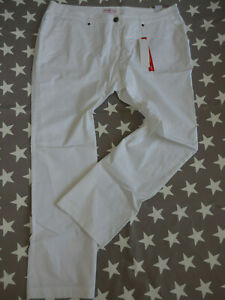 Sheego-Pants-Ladies-Cargo-Trousers-Chinos-Size-40-to-58-White-693-187-195