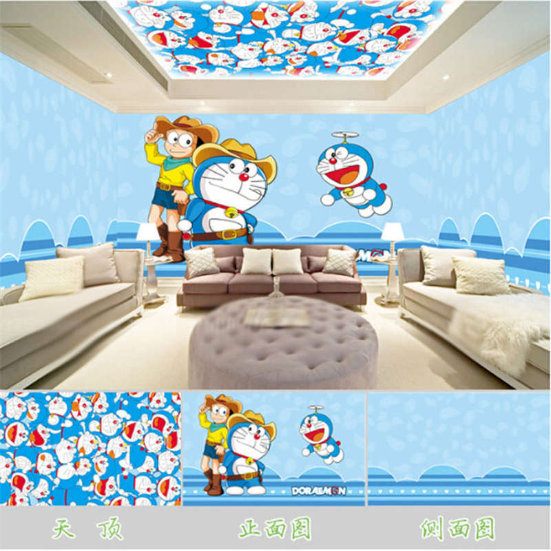 Tender Doraemon 3D Full Wall Mural Photo Wallpaper Printing Home Kids Decor