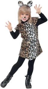 Katze Katzchen Leopard Kleid Kinder Karneval Fasching Kostum 98 128