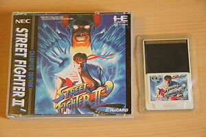 Street-Fighter-II-dash-Jeu-NEC-PC-Engine-Hucard-import-JAP-cib