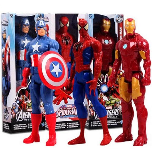 Superhero Action Figure Captain America Spider Man Iron Man Collection Toy