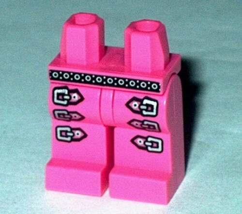 LEGS 014 Lego Dark Pink Silver Belt /& Buckle pattern NEW Boy Girl Pop Star 8684