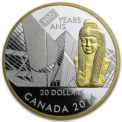 2014 Silver Canadian $20 Coin - 100th Anniversary of the Royal Ontario Museum