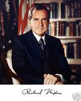 Richard Nixon 37th U.s President Facsimile Autograph 8 X 10 Photo Picture