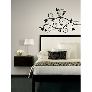 Image Is Loading New BLACK Amp SILVER TREE BRANCH WALL DECALS