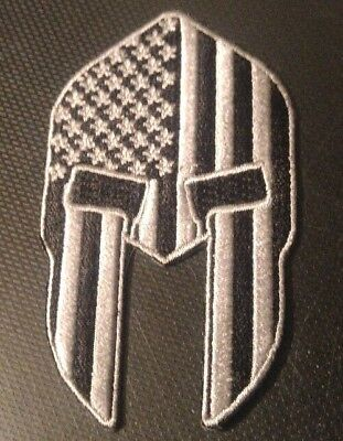 Spartan USA Flag Patch iron-on or Sew SWAT Military Tactical Marines U.S.A.