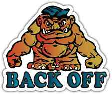 """Back Off Monster Tailgater Funny Car Bumper Window Vinyl Sticker Decal 5""""X4"""""""