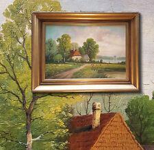 ADOLF KAUFMANN 1848-1916 Veraniego paisaje. SUPERIOR Pintura al óleo