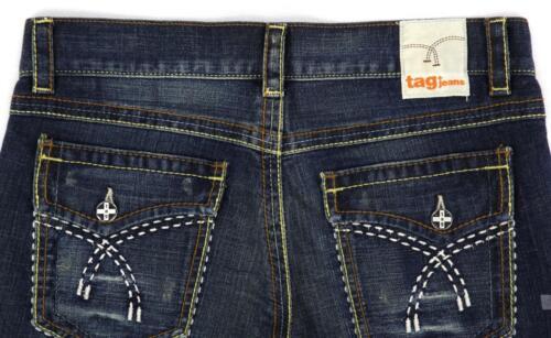 scuro id 1073 Ritagliata n Tag capri Jeans taglia donna Blu nuovo 29 xwqCfOT