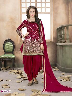 Designer Punjabi Women Fancy Style Patiyala Salwar Kameez Suit Ethnic Wedding Women's Clothing
