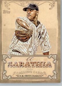 2013 Topps Calling Cards #CC-8 CC Sabathia - New York Yankees