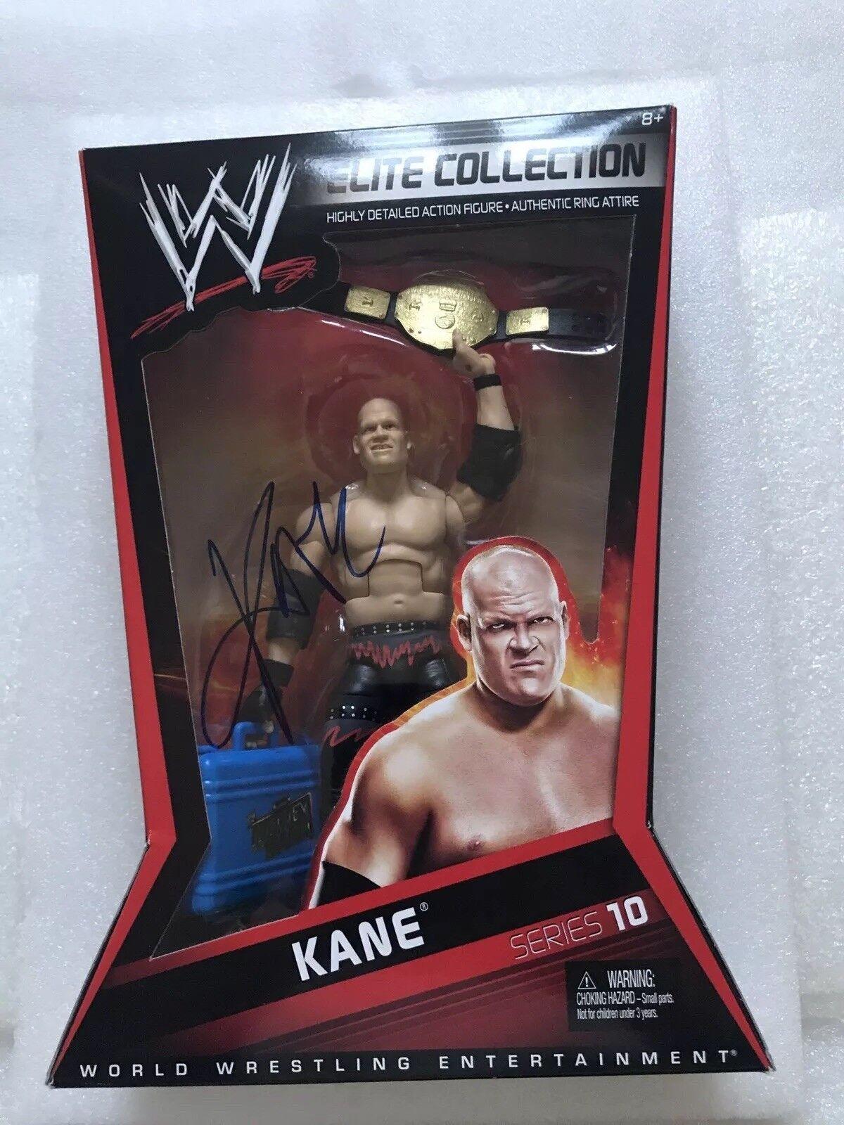 precios bajos todos los dias WWE MATTEL ELITE Collection Autografiado serie 10 Kane MitB Peso Peso Peso Pesado Nuevo  mas barato