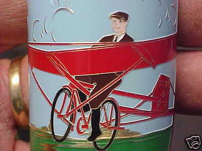 Transport Luftfahrt & Zeppelin Glorious Glide-o-bike Abzeichen Steuerrohr Emblem Säure Geätzte Messing 1930s Jahre Ära