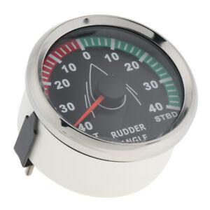 """Marine Boat Rudder Angle Indicator Gauge With Sensor 190-0Ω 52mm 2"""" 9-32V 316L"""