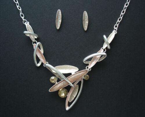 Schmuck Set Collier Halskette und Ohrstecker Silber 925