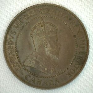 1907-Canada-One-Cent-Coin-1c-Large-Cent-Extra-Fine-Bronze